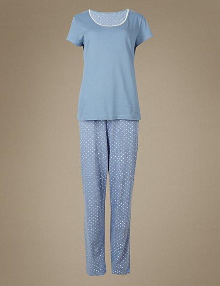 Pure Cotton Printed Short Sleeve Pyjama Set