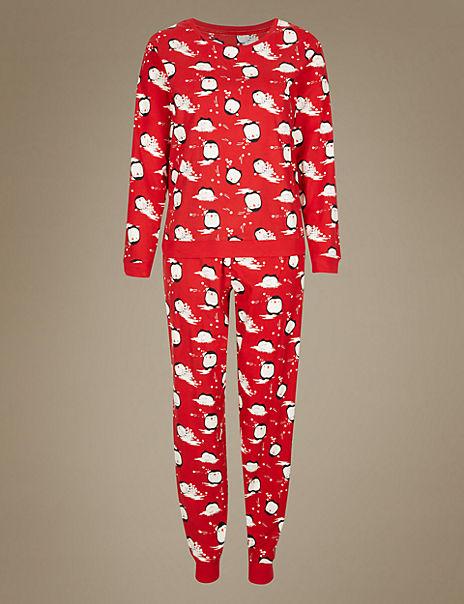 Penguin All Over Print Pyjamas