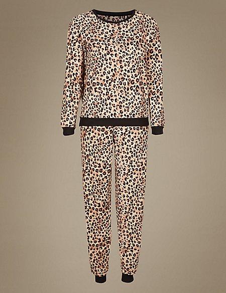 Animal Print Long Sleeve Pyjamas
