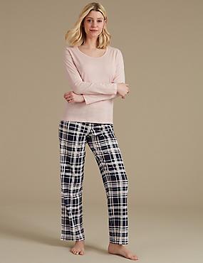 Pure Cotton Printed Pyjama Set, BLUE MIX, catlanding