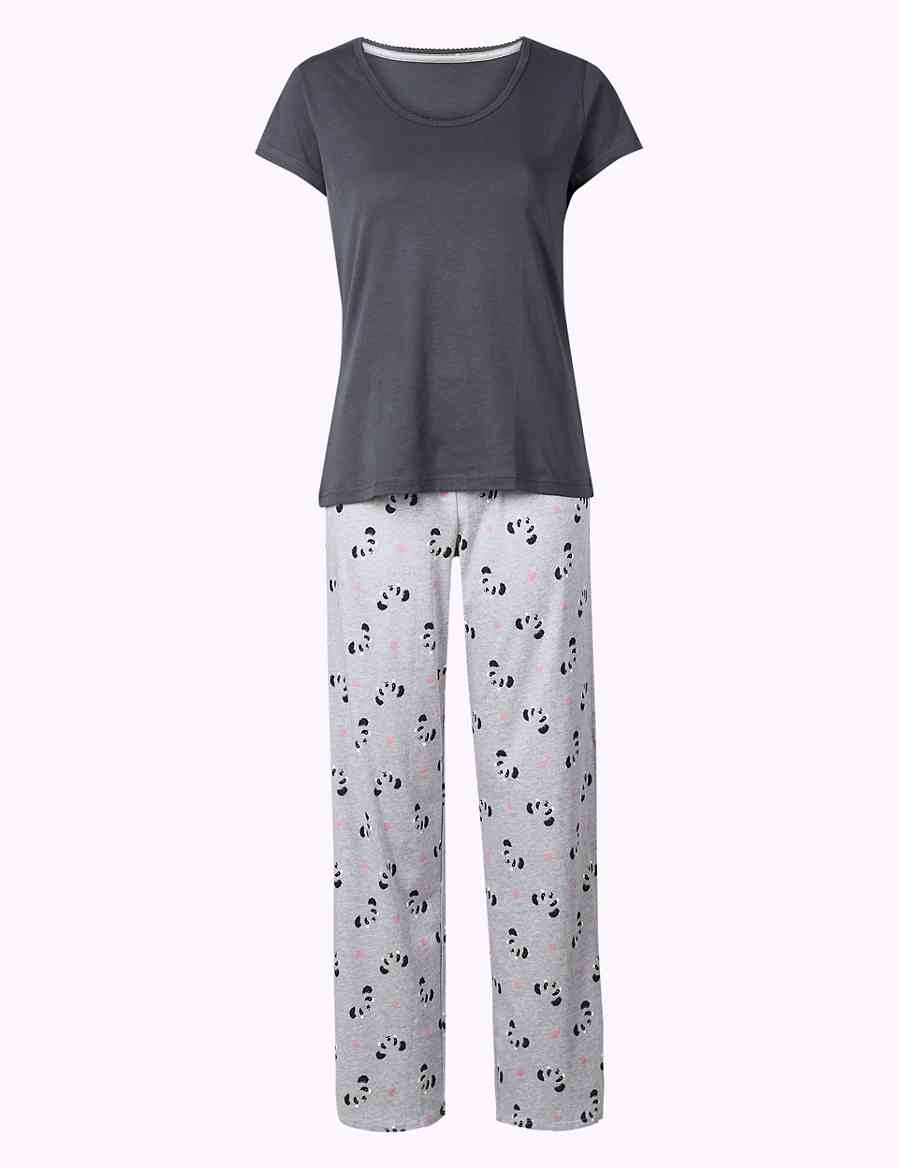 05c2e22f87 Pure Cotton Panda Print Pyjama Set