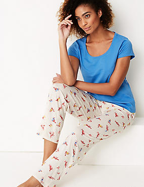 Pure Cotton Fox Print Pyjama Set