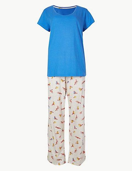 Pure Cotton Fox Print Pyjama Set
