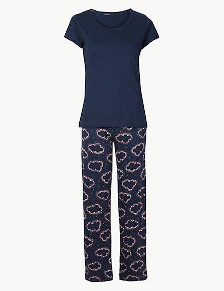 Pure Cotton Cloud Print Pyjama Set