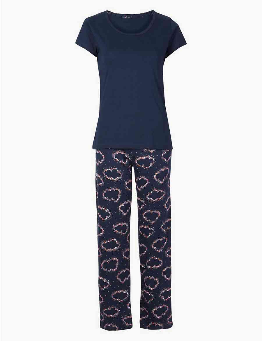 fa2cec966e Pure Cotton Cloud Print Pyjama Set
