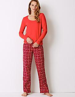 262cadc84fe5 Pure Cotton Checked Long Sleeve Pyjama Set