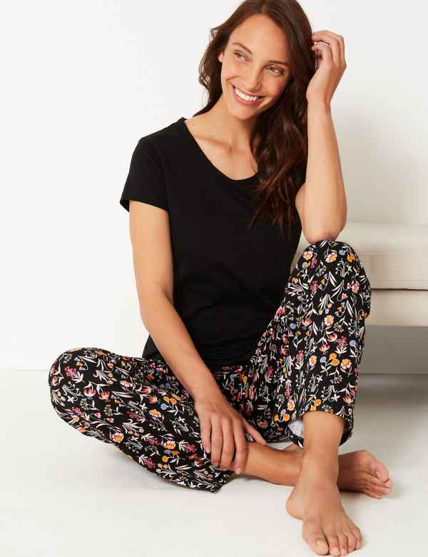 33aee47e11 Pure Cotton Floral Print Pyjama Set