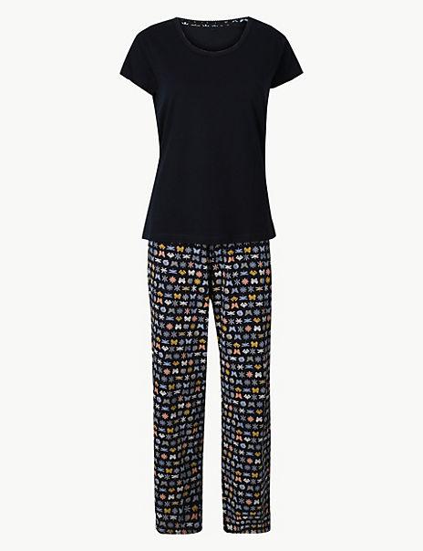 Pure Cotton Butterfly Pyjama Set