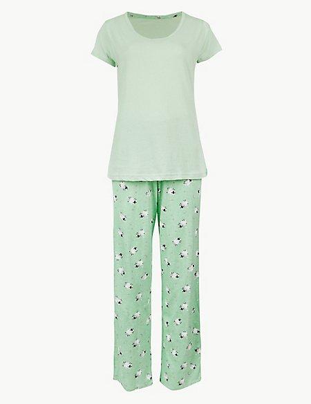 Pure Cotton Sheep Print Pyjama Set