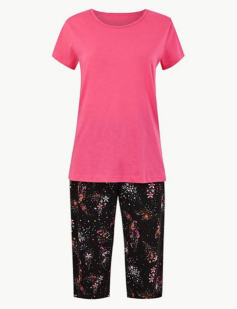 Pure Cotton Seahorse Pyjama Set