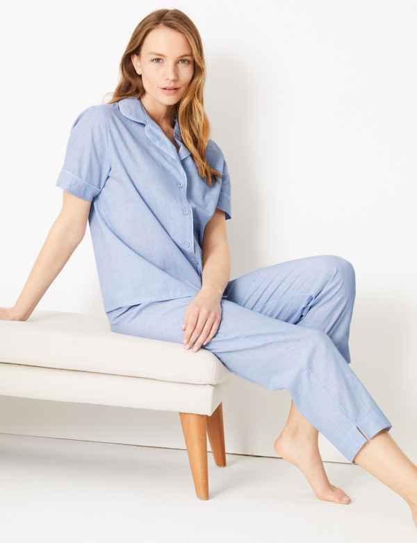 663d1160944 Dobby Short Sleeve Pyjama Set