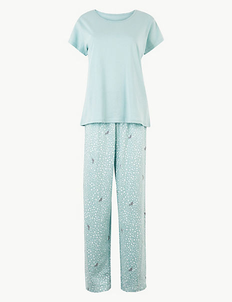 Pure Cotton Narwhal Print Pyjama Set
