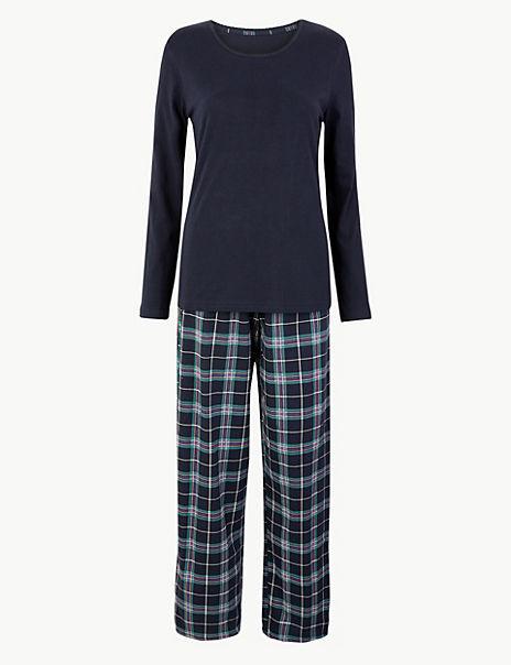 Check Print Cotton Pyjama Set