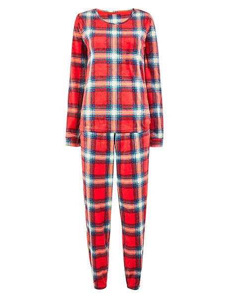 Fleece Checked Pyjama Set