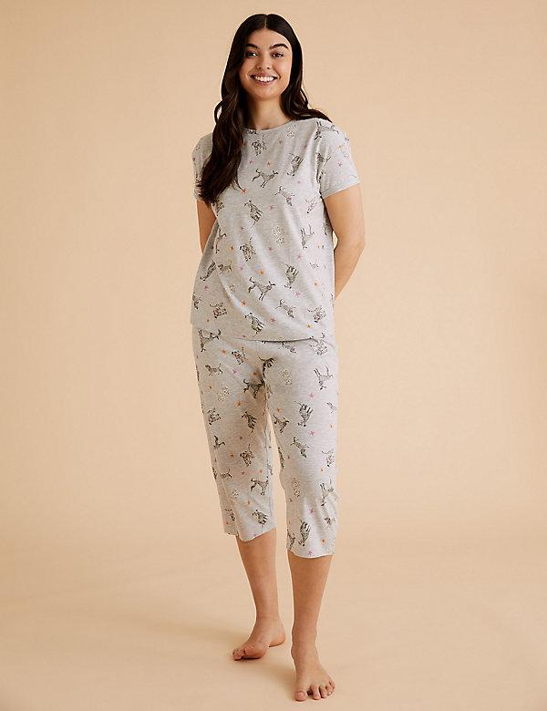 Pijama de algodón con estampado de perro