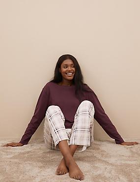Pure Cotton Checked Print Pyjama Set