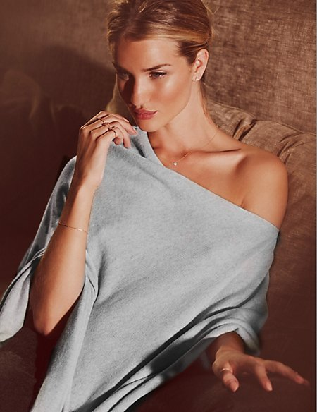 Rosie for Autograph Luxurious Pure Cashmere Poncho