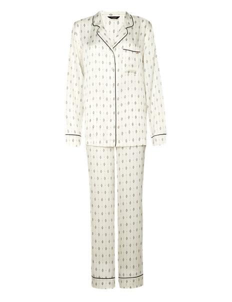 Luxurious Satin Revere Pyjamas