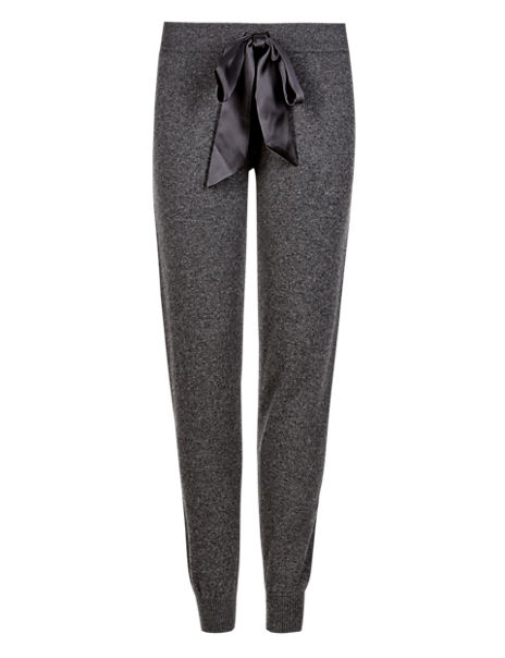 Pure Cashmere Cuffed Hem Belted Pyjama Bottoms