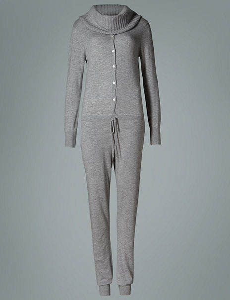 Modal Blend Knitted Onesie with Cashmere