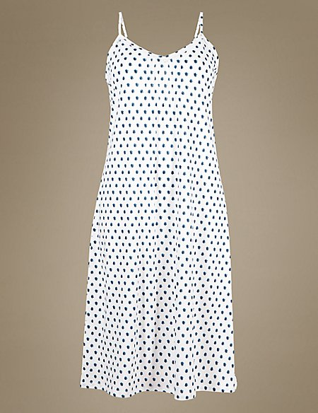 Modal Blend Geometric Print Nightdress