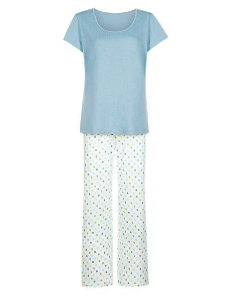 Pure Cotton Spotted Pyjamas