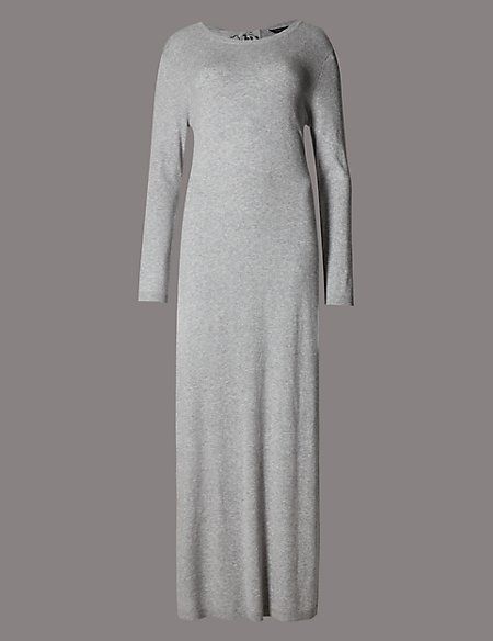 Long Sleeve Nightdress with Cashmere