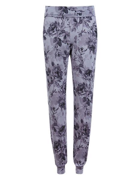 Cuffed Hem Floral Pyjama Bottoms