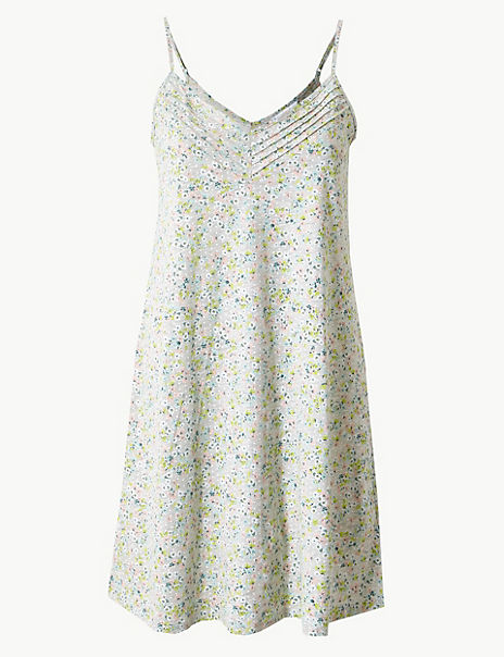 Jersey Floral Strappy Chemise