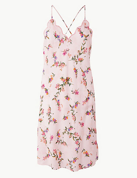 Floral Strappy Chemise