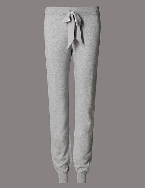 Cuffed Hem Pyjama Bottoms with Cashmere