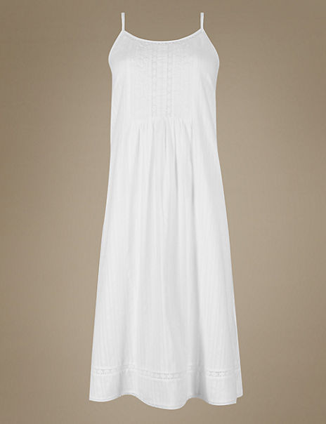 Pure Cotton Textured Embroidered Chemise