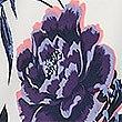 Trägerunterhemd aus Satin mit Blumenmuster, WEISS MELANGE, swatch