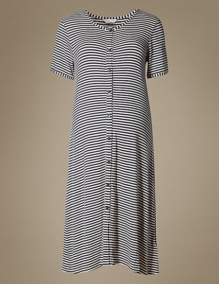 Maternity Striped Nightdress