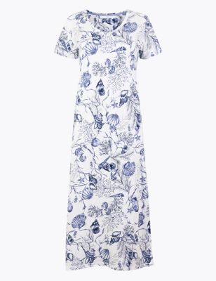 Cotton Modal Cool Comfort™ Shell Nightdress by Marks & Spencer