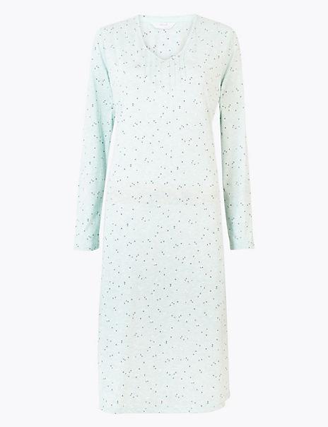 Cool Comfort™ Cotton Modal Spot Print Nightdress