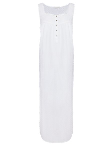 Pure Cotton Long Nightdress with Cool Comfort™ Technology
