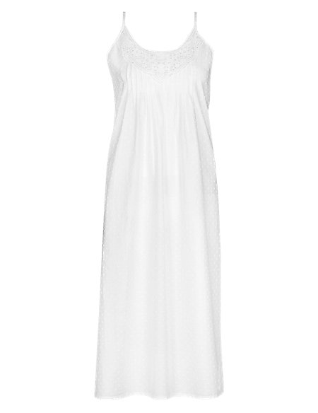 Pure Cotton Dobby Spotted Chemise with Cool Comfort™ Technology