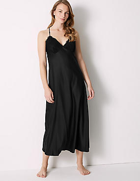 Satin Strappy Long Nightdress