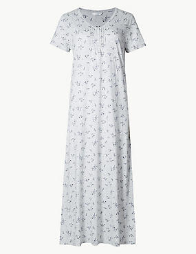 Modal Blend Floral Print Long Nightdress