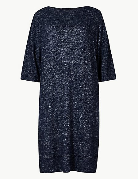 Marl 3/4 Sleeve Cosy Knit Lounge Dress