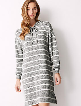 Striped Long Sleeve Lounge Nightdress