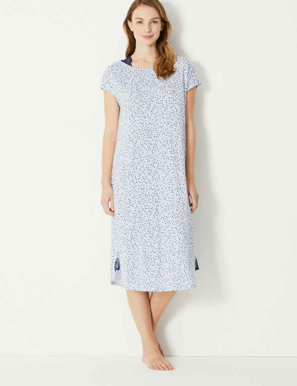 3bb48a17266 Cool Comfort™ Cotton Modal Spot Nightdress