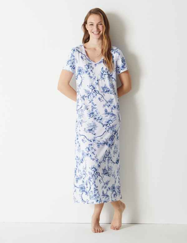 Sale. Sparks. Cool Comfort™ Cotton Modal Floral Nightdress 04b021890