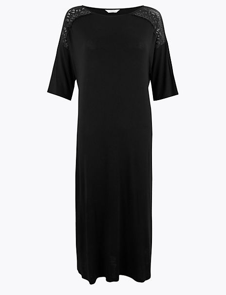 Sumptuously Soft™ Lace Trim Nightdress