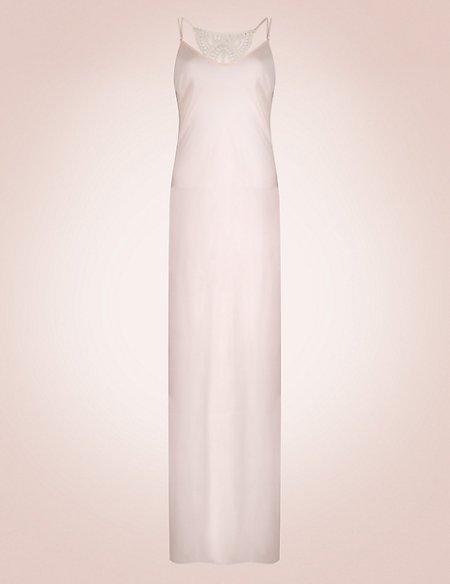 Guipure Lace Trim Nightdress