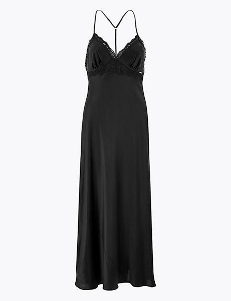 Silk & Lace Long Nightdress