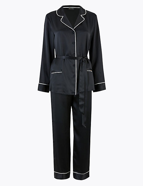 Pure Silk Tie Waist Pyjama Set