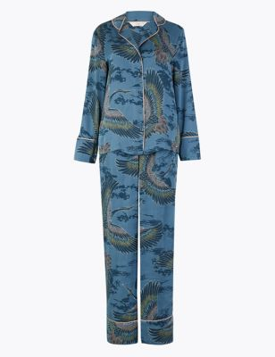 ROSIE FOR AUTOGRAPH Satin Bird Print Pyjama Set