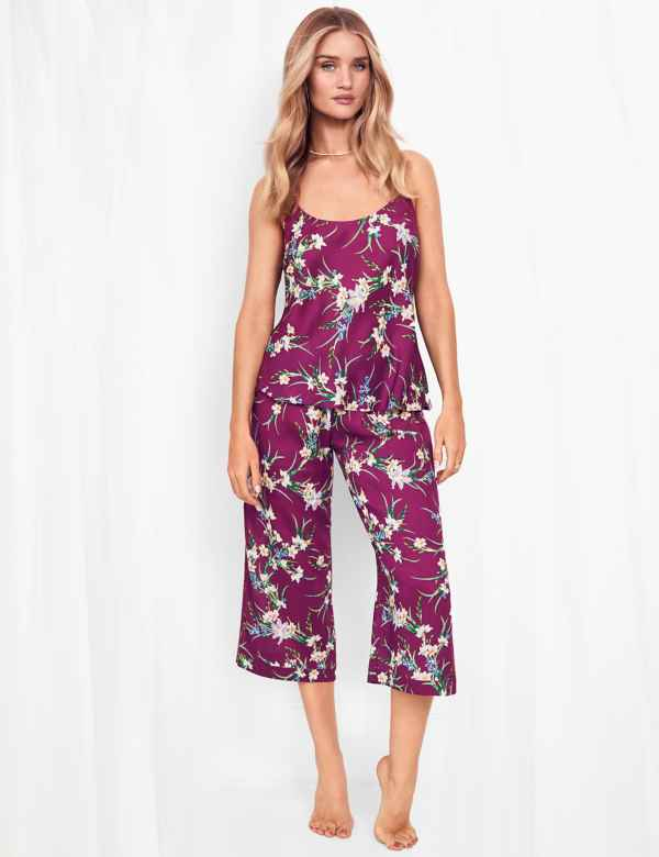 M/&S Womens Floral Short Sleeve COTTON NIGHTDRESS Nightie Sleepwear 6-8